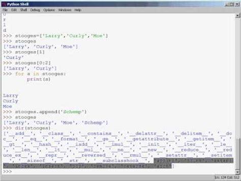 tutorial python dictionary python training video tutorial on lists tuples strings