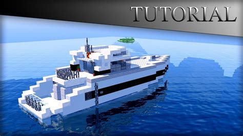 how to make a speed boat in minecraft pe minecraft modern boat house tutorial yacht speed boat