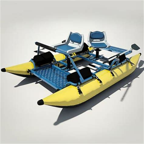 fishing from inflatable pontoon boat 3d model inflatable fishing pontoon boat 69 95 buy