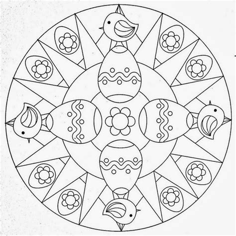 easter mandala coloring page free coloring pages of easter mandala