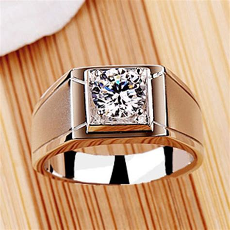 Promo Cincin Berlian Fashion 055 Ct Ring Emas Putih classic 1ct 14k white gold ring for luxury synthetic jewelry genuine gold