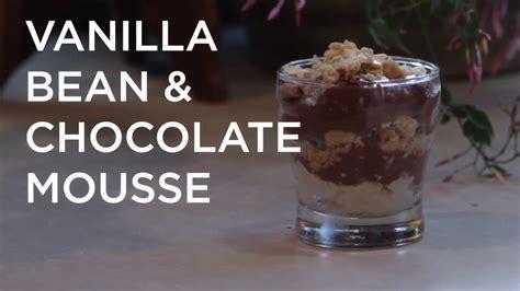 Chocolate Mousse Coffee Bean vanilla bean chocolate mousse parfait