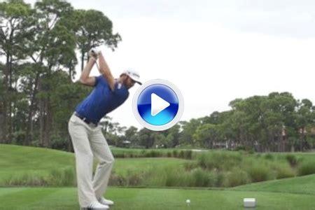 dustin johnson golf swing slow motion v 205 deo vea el potente swing de dustin johnson a c 225 mara