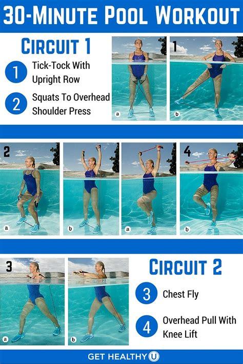 ideas  water aerobic exercises  pinterest