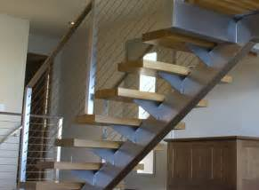 awesome Contemporary French Country Decor #9: great-contemporary-stair-railing-on-interior-with-stair-cable-railing-modern-staircase-by-ultra-tec-cable-railing.jpg