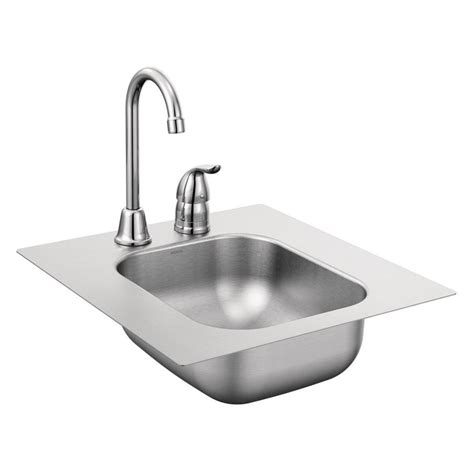 Moen Kitchen Sinks Shop Moen 2000 Series Stainless Steel Stainless Steel Drop In Residential Bar Sink At Lowes