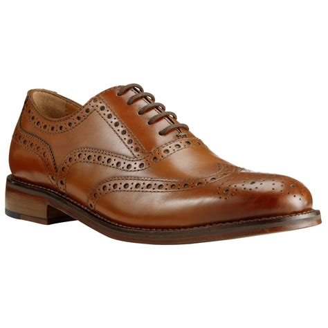 lewis shoes lewis bentley leather brogue shoes in brown for