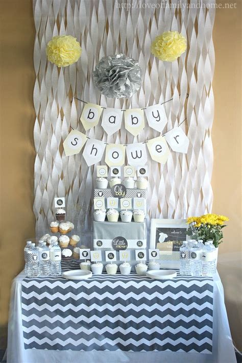 17 Best ideas about Baby Shower Backdrop on Pinterest   Baby boy shower decorations, Streamer