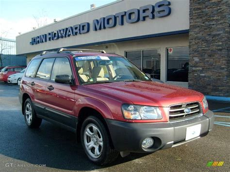 red subaru forester 2004 cayenne red pearl subaru forester 2 5 x 23095266