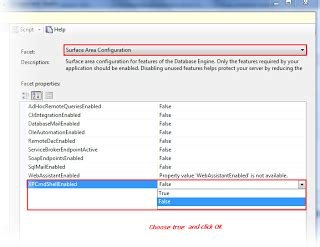 configure xp sql server enable and work with xp cmdshell in sql server 2008 r2