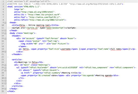 html code html code meeting page iks the semantic cms