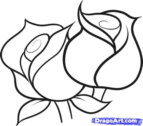 drawing pattern of rose how to draw roses for kids step by step flowers for kids