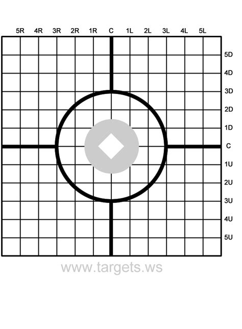 Printable Rifle Sight In Targets | targets print your own sight in shooting targets