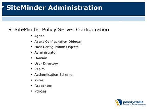Siteminder Administrator siteminder