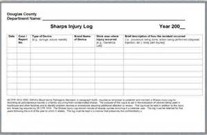 Sharps Injury Log Template by Image Gallery Osha Autoclave Log Sheets