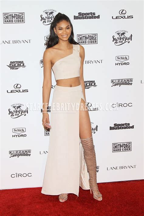 Channel Dress 2 chanel iman swim suit 2016 one shouldered prom dress starcelebritydresses