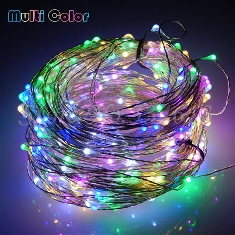 12v led string lights 30m 300 leds cool white light silver wire outdoor