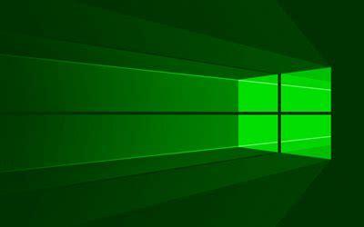 indir duvar kagidi windows  yesil logo  minimal os
