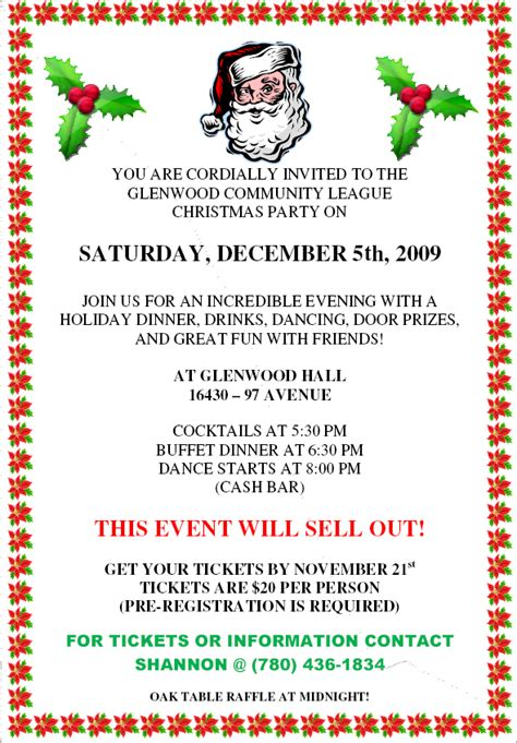 invitation sample christmas party new invitation letter for event