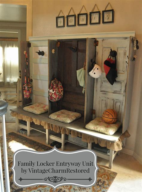 foyer organization family storage entryway unit hometalk