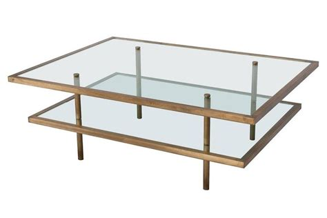 bronze and glass two tier coffee table at 1stdibs