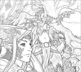 detailed coloring pages for adults printable fantasy az