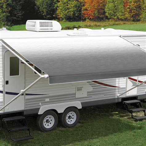 carefree awnings australia carefree 16ft led silver shale fade roll out awning no arms