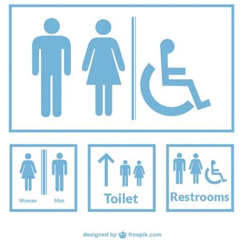 restroom signs vector free