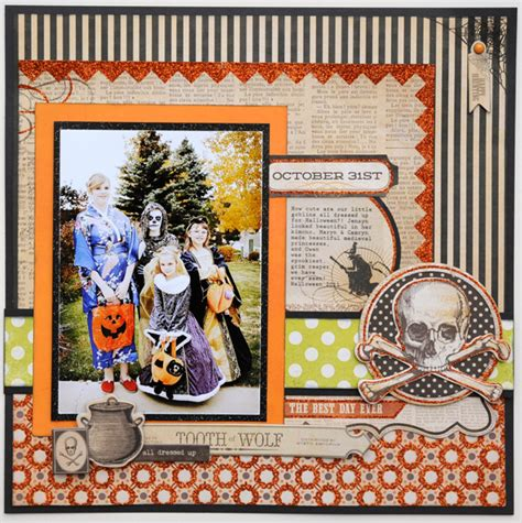 scrapbook layout ideas for halloween scrapbooking halloween and fall with jana vintage