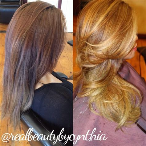 dark hair after 70 before and after color correction dark to light in just