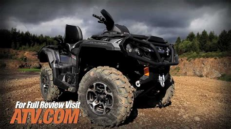 2013 can am outlander max 1000 atv review   youtube