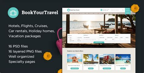27 Online Web Templates Free Download Creative Template Travel Booking Website Templates Free