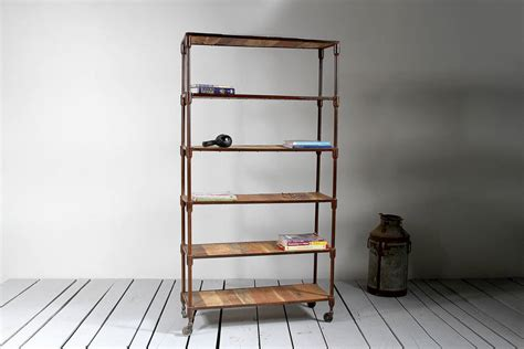reiner upcycled pipe bookshelf by tree furniture