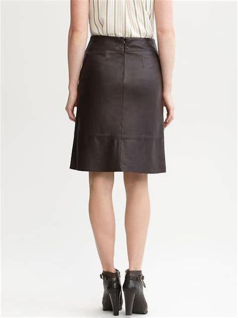 brown leather skirt banana republic aline leather skirt in brown dark brown