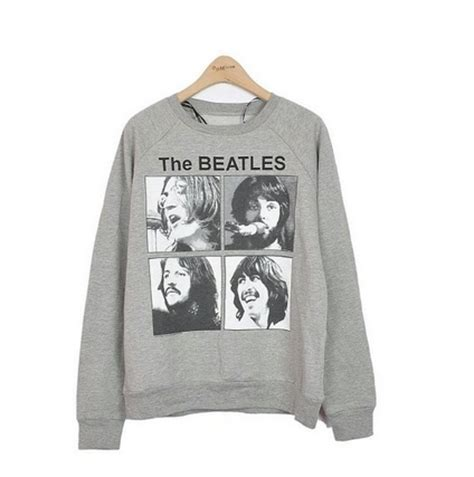 Sweater The Batles the beatles black and white headshot s cotton