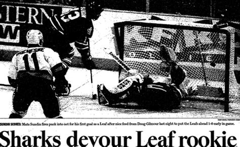 toronto star sports section memories of mats sundin january 21 1995 226 the first of