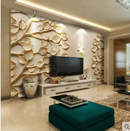 wall murals for rooms european wallpaper mural large 3d wall paper leaves for tv
