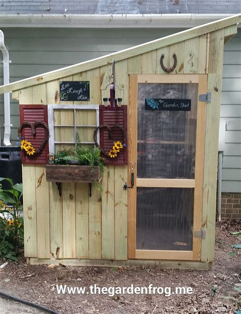 diy backyard sheds hometalk diy garden shed from picket fence