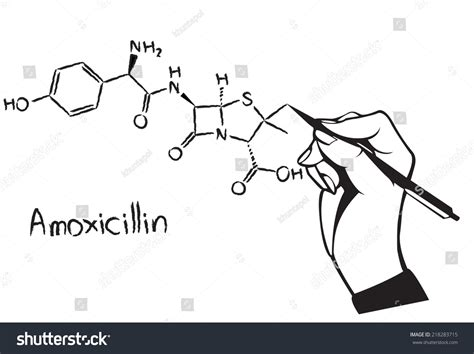 Chem Structure Drawer by Amoxicillin Chemical Structure Drawing With Stock