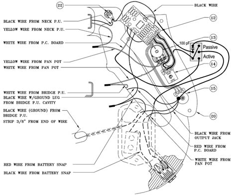 fender deluxe active jazz bass wiring diagram circuit