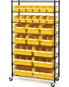 organizer bins don t miss this bargain 24 bin rack with wheels storage