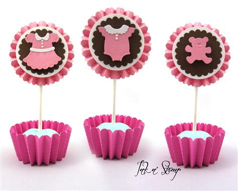 Handmade Cupcake Toppers - decoration completely custom adorable baby shower