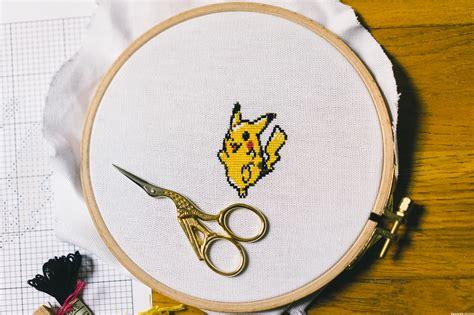 Point De Croix Grille Gratuite by Pikachu Au Point De Croix Grille Gratuite Trendy Mood