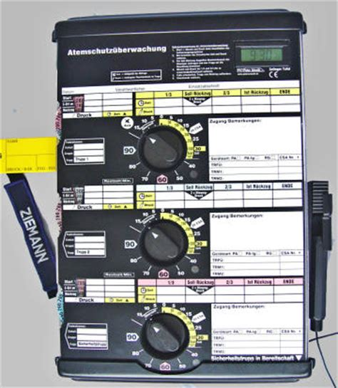 Atemschutz 252 Berwachung Atemschutz 252 Berwachungstafel