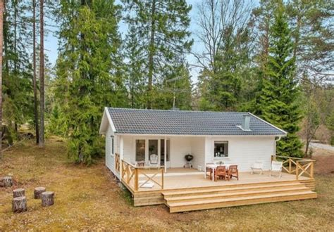 single level tiny house a small white house in the woods of sweden home design