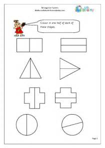 recognise halves fractions maths worksheets for year 2