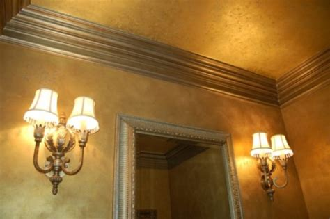gold ceiling paint metallic gold plaster troweled walls gilded ceiling