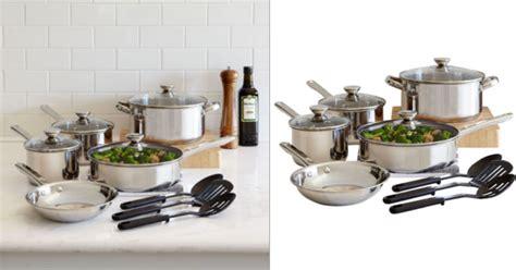 jcpenney  piece cookware set    rebate regulary  hipsave