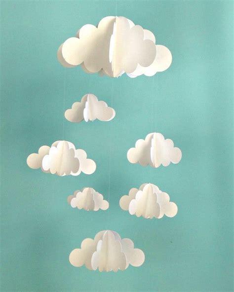 How To Make A Paper Cloud - diy mobile nuage 3d en papier cmachambre le qui
