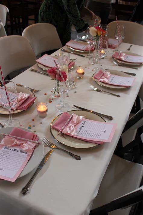 Gamis Set Baby Pink baby shower table setting wedding and baby showers